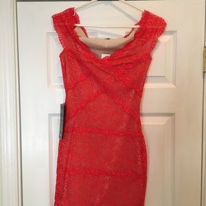 Coral Pink BEBE dress